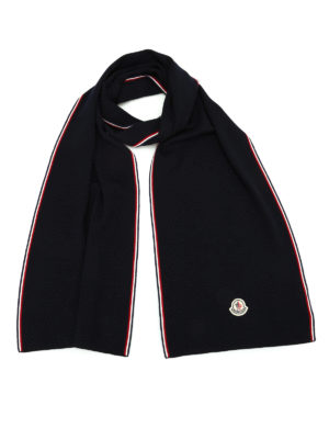 Moncler: scarves - Solid colour virgin wool scarf