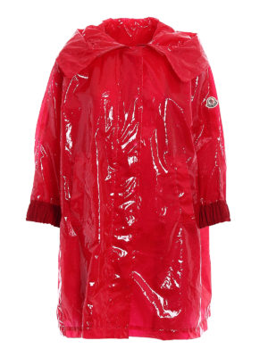 Moncler: short coats - Astrophy red short coat