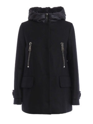 Moncler: short coats - Euphemia coat with padded vest