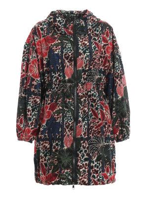 MONCLER: short coats - Lichen oversized jacket