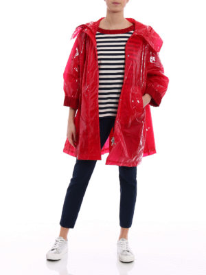 Moncler: short coats online - Astrophy red short coat