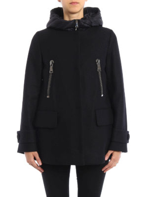 Moncler: short coats online - Euphemia coat with padded vest