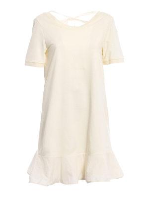Moncler: short dresses - Expandable cotton dress