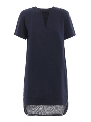 Moncler: short dresses - Mesh embellished cotton mini dress