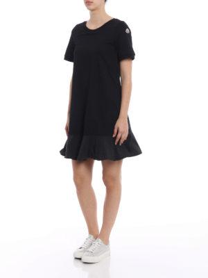 Moncler: short dresses online - Expandable cotton black dress