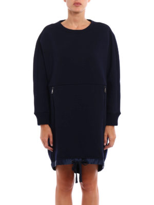 Moncler: short dresses online - Wool blend jersey dress
