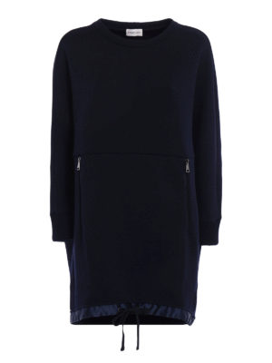 Moncler: short dresses - Wool blend jersey dress