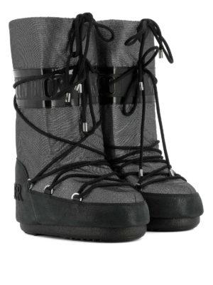 Moncler: snow boots online - Saturne metallic snow boots