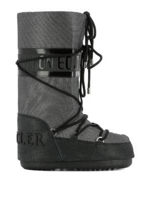 Moncler: snow boots - Saturne metallic snow boots