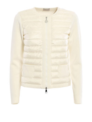 Moncler: Sweatshirts & Sweaters - Front padded panel sweatshirt
