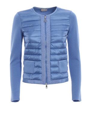 Moncler: Sweatshirts & Sweaters - Front padded panelled sweatshirt