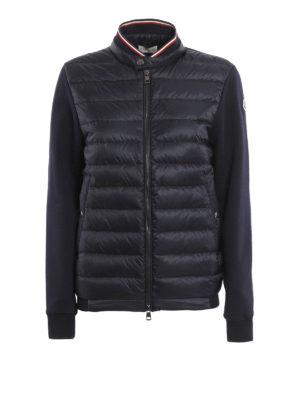 Moncler: Sweatshirts & Sweaters - Front padded zipped sweatshirt