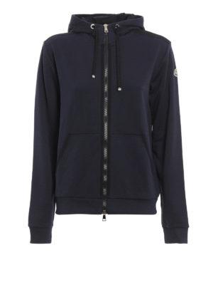 Moncler: Sweatshirts & Sweaters - Grosgrain trimmed sweatshirt