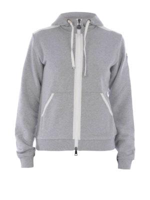 Moncler: Sweatshirts & Sweaters - HOODED COTTON SWEATSHIRT
