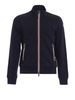 Moncler: Sweatshirts & Sweaters - Iconic Moncler trim zip sweatshirt