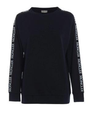 Moncler: Sweatshirts & Sweaters - Logo band cotton sweatshirt