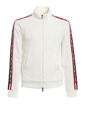 Moncler: Sweatshirts & Sweaters - Logo detailed sleeves sweatshirt