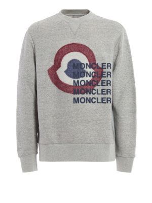 Moncler: Sweatshirts & Sweaters - Logo print sweatshirt