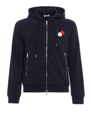 Moncler: Sweatshirts & Sweaters - Moncler logo cotton hoodie
