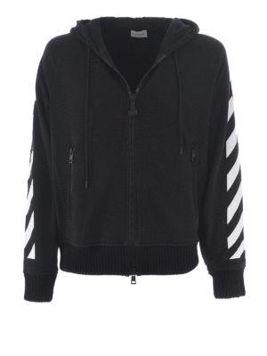 Moncler: Sweatshirts & Sweaters - Off White cotton sweatshirt