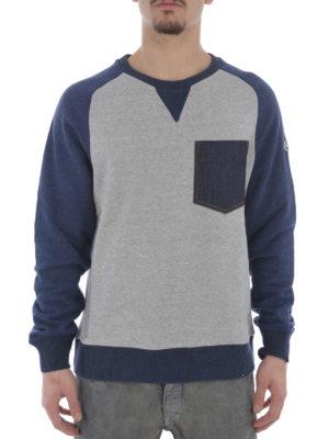 Moncler: Sweatshirts & Sweaters online - Denim pocket bicolour sweatshirt