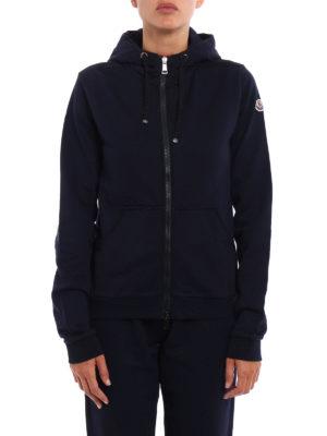 Moncler: Sweatshirts & Sweaters online - Full zip gros grain trim hoodie