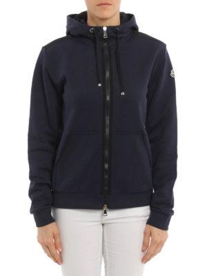 Moncler: Sweatshirts & Sweaters online - Grosgrain trimmed sweatshirt