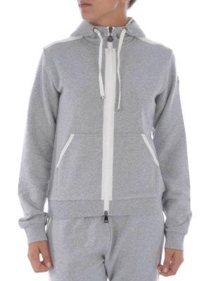 Moncler: Sweatshirts & Sweaters online - HOODED COTTON SWEATSHIRT