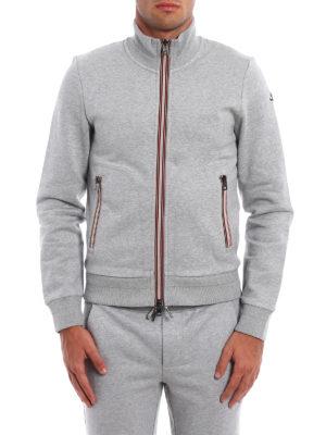Moncler: Sweatshirts & Sweaters online - Iconic Moncler trim zip sweatshirt
