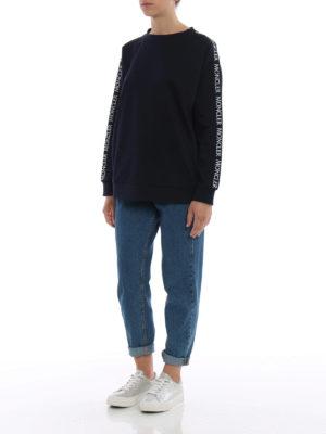 Moncler: Sweatshirts & Sweaters online - Logo band cotton sweatshirt
