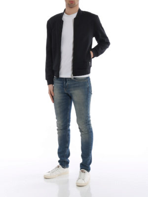 Moncler: Sweatshirts & Sweaters online - Logo bands black sweatshirt