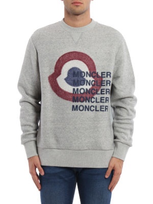 Moncler: Sweatshirts & Sweaters online - Logo print sweatshirt