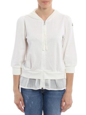 Moncler: Sweatshirts & Sweaters online - Mesh detailed hoodie