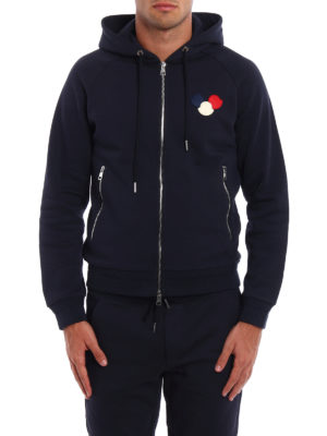 Moncler: Sweatshirts & Sweaters online - Moncler logo cotton hoodie