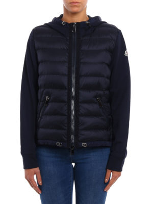 Moncler: Sweatshirts & Sweaters online - Padded front cotton hoodie