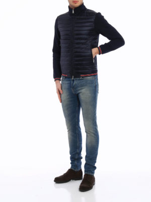 Moncler: Sweatshirts & Sweaters online - Padded front cotton sweatshirt
