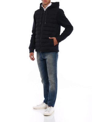 Moncler: Sweatshirts & Sweaters online - Padded front dark grey hoodie