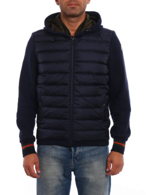 Moncler: Sweatshirts & Sweaters online - Padded two-tone soft hoodie