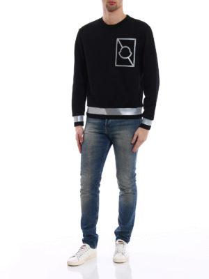 Moncler: Sweatshirts & Sweaters online - Reflective bands sweatshirt