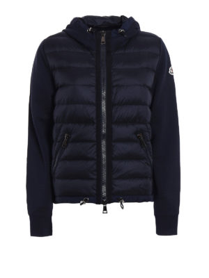 Moncler: Sweatshirts & Sweaters - Padded front cotton hoodie