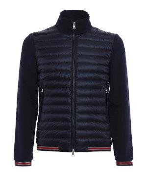 Moncler: Sweatshirts & Sweaters - Padded front cotton sweatshirt