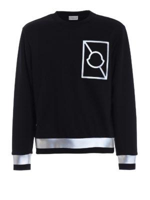 Moncler: Sweatshirts & Sweaters - Reflective bands sweatshirt