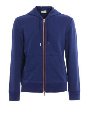 Moncler: Sweatshirts & Sweaters - Zip cotton hoodie