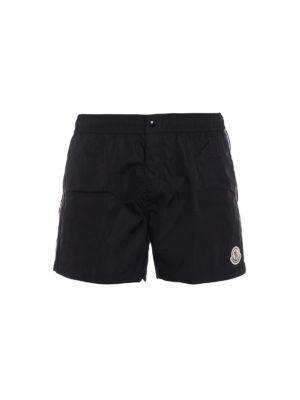 Moncler: Swim shorts & swimming trunks - Bands detailed nylon swim shorts
