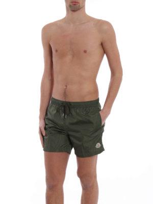 Moncler: Swim shorts & swimming trunks online - Rear zipped pocket swim shorts