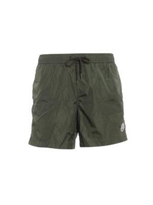 Moncler: Swim shorts & swimming trunks - Rear zipped pocket swim shorts