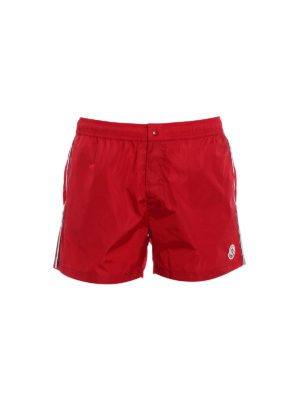 Moncler: Swim shorts & swimming trunks - Red swim shorts