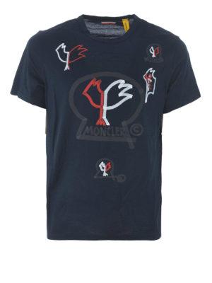 MONCLER: t-shirt - T-shirt in jersey blu Moncler Genius 2