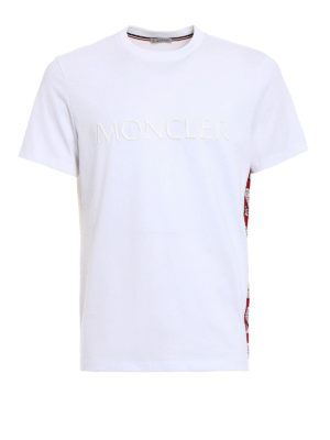 Moncler: t-shirts - Cartoon side band white Tee
