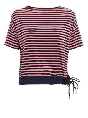 Moncler: t-shirts - Double drawstring striped T-shirt